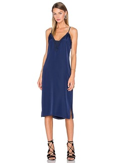 House of Harlow 1960 x REVOLVE Stella Deep V Slip Dress in Navy. - size S (also in XS,M)