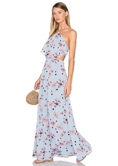 House of Harlow 1960 x REVOLVE Zoe Halter Maxi in Blue. - size L (also in M,XL)