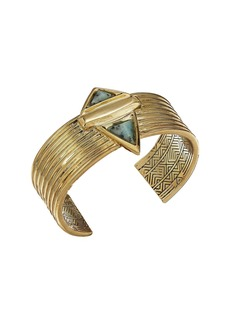 House of Harlow Pyramid Stone Cuff Bracelet