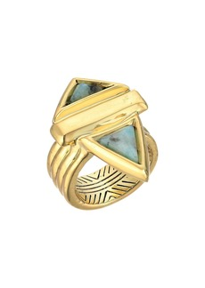House of Harlow Pyramid Stone Ring