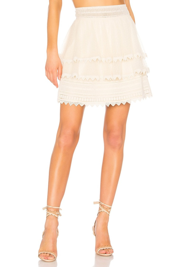 x REVOLVE Paavo Skirt in Cream. - size M (also in L,S,XL,XS,XXS) House Of Harlow