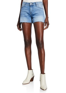 Hudson Jeans Amber Frayed-Hem Denim Shorts