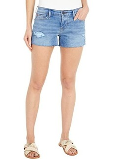 Hudson Jeans Amber Raw Edge Hem Shorts in Destructed Belle
