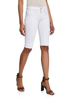 Hudson Jeans Amelia Cuffed Denim Bermuda Shorts
