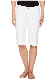 Hudson Jeans Amelia Cut Off Knee Shorts in Optical White