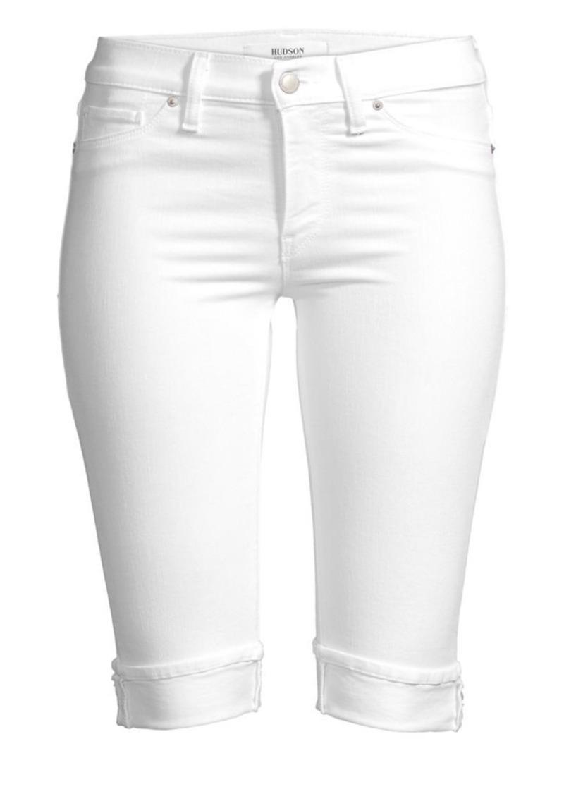 Hudson Jeans Amelia Knee-Length Cuffed Denim Shorts