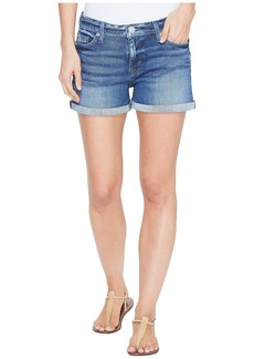 Hudson Jeans Asha Mid-Rise Cuffed Five-Pocket Shorts in Reigning