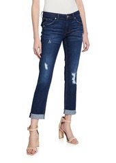 Hudson Jeans Bacara Destroyed Cropped Jeans