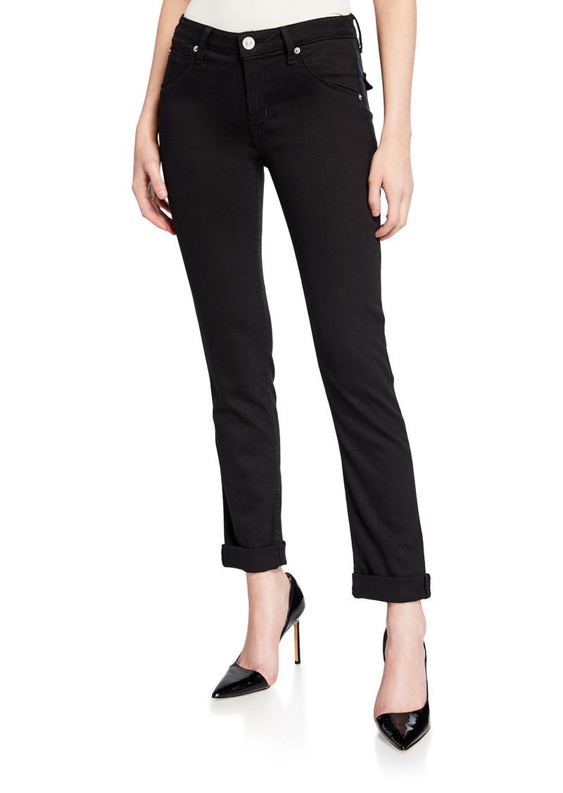 Hudson Jeans Bacara Low-Rise Slim-Leg Cropped Jeans