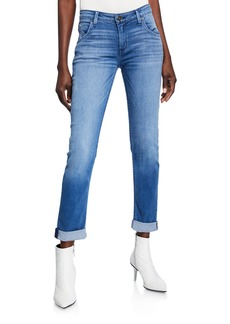 Hudson Jeans Bacara Straight-Leg Cropped Jeans
