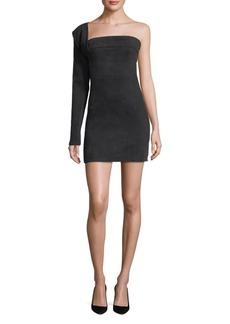 Hudson Jeans Baja East Contour One-Shoulder Mini dress