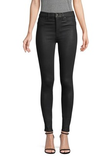 Hudson Jeans Barbara High-Rise Coated Skinny Jeans