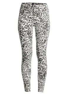 Hudson Jeans Barb High-Rise Leopard Skinny Jeans