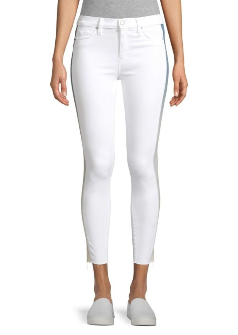 Hudson Jeans Barb High-Rise Racing Stripe Skinny Jeans