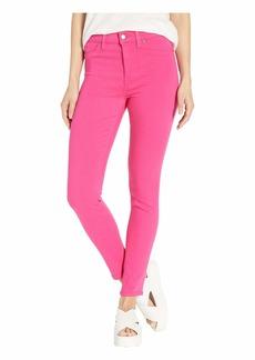 Hudson Jeans Barbara Ankle High-Rise Skinny Jeans in Fuchsia