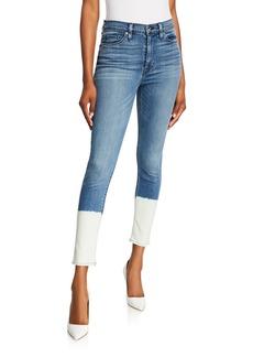 Hudson Jeans Barbara Dipped Super Skinny Jeans