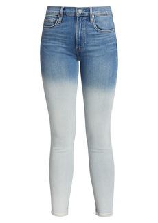 Hudson Jeans Barbara High-Rise Dip-Dye Skinny Jeans