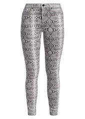 Hudson Jeans Barbara High-Rise Skinny Python Jeans