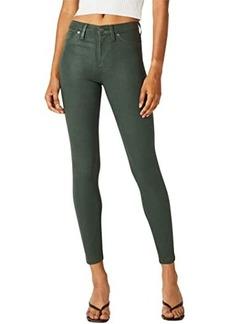 Hudson Jeans Barbara High-Rise Super Skinny in High Shine Emerald Green