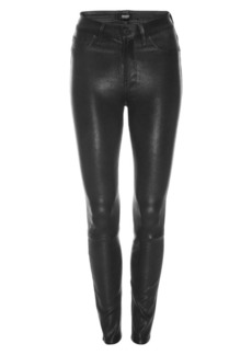 Hudson Jeans Barbara High-Rise Super Skinny Leather Pants