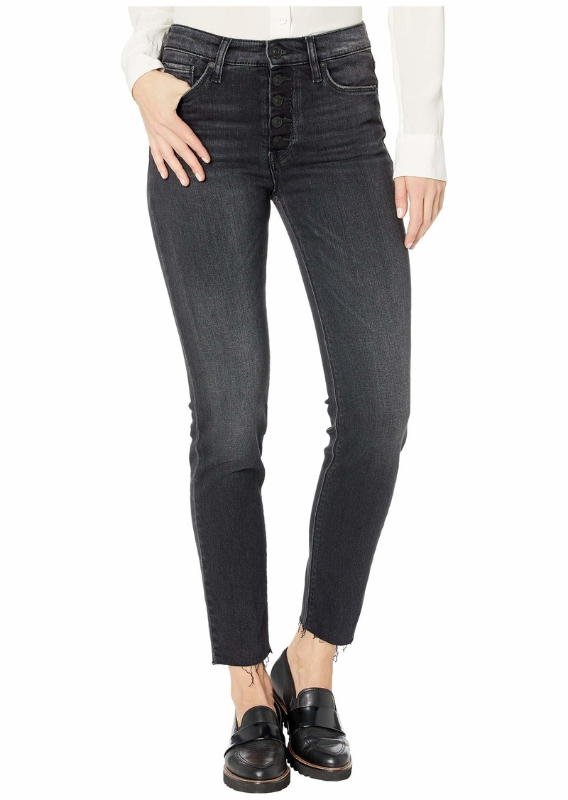 Hudson Jeans Barbara High-Rise Super Skinny with Exposed Buttons in Tease