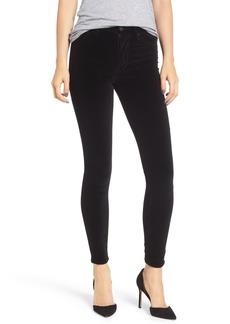 Hudson Jeans Barbara High Waist Ankle Skinny Velvet Jeans