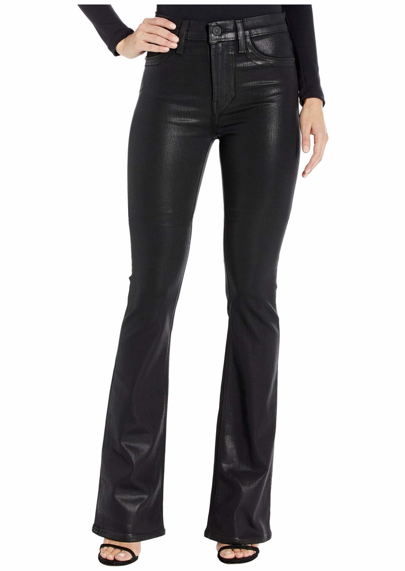 Barbara High-Waist Bootcut in Noir Coated