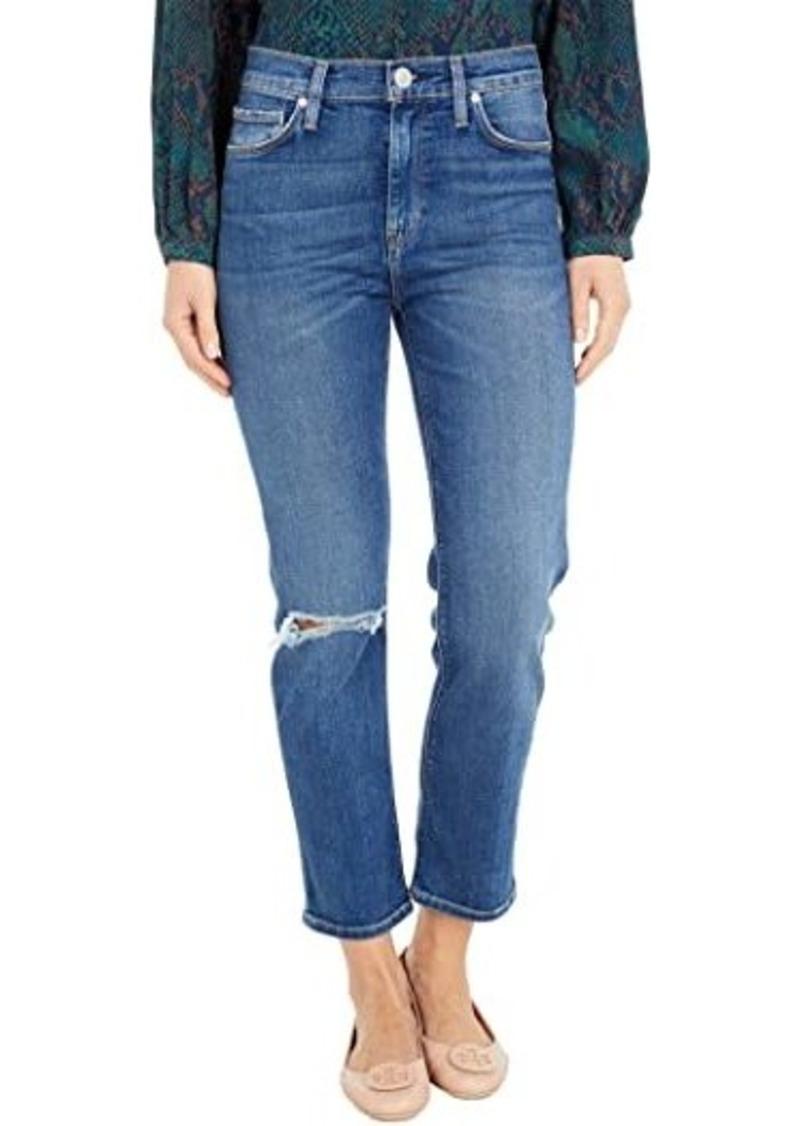 Hudson Jeans Barbara High-Waist Crop Straight in Destructed Surpass