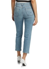 Hudson Jeans Barbara High-Waist Cropped Straight-Leg Jeans