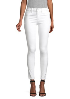 Hudson Jeans Barbara High-Waist Skinny Lace-Up Jeans