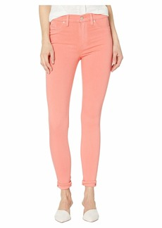 Hudson Jeans Barbara High-Waisted Ankle Skinny Jeans in Flamingo