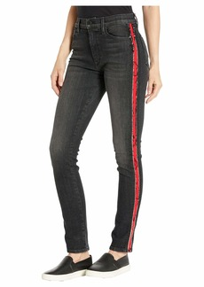 Hudson Jeans Barbara High-Waisted Skinny w/ Side Seam Detail in After Dark