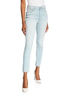 Hudson Jeans Barbara Raw-Edge Super Skinny Jeans