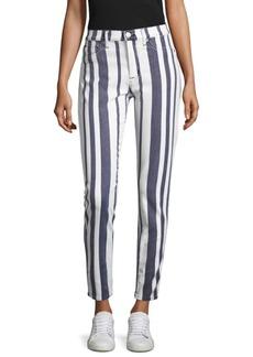 Hudson Jeans Barbara Striped Skinny Jeans