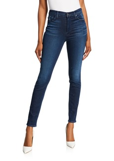 Hudson Jeans Barbara Stud Super Skinny Jeans
