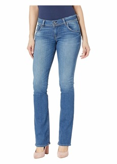 Hudson Jeans Beth Mid-Rise Slim Bootcut Jeans in Amaranth