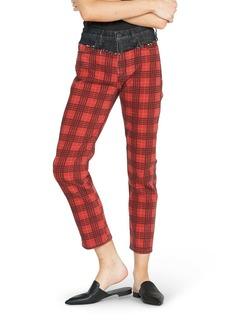Hudson Jeans Bettie High Waist Tapered Contrast Crop Jeans