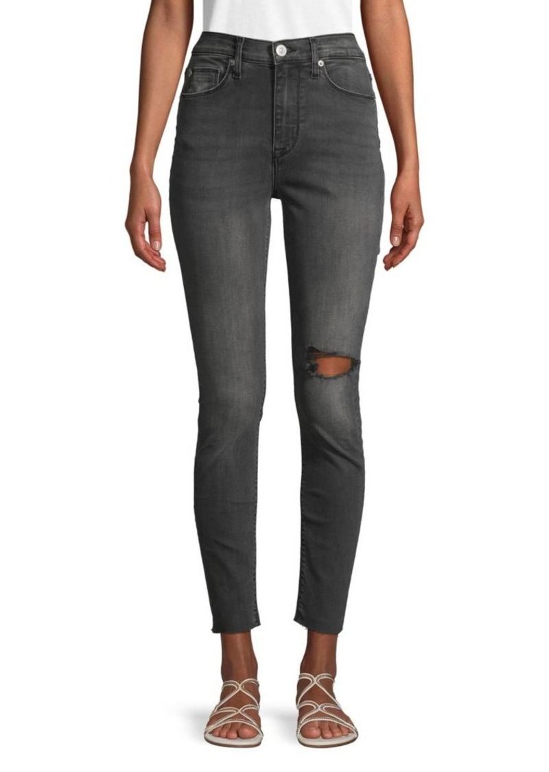 Hudson Jeans Blair High-Rise Distressed Ankle Jeans