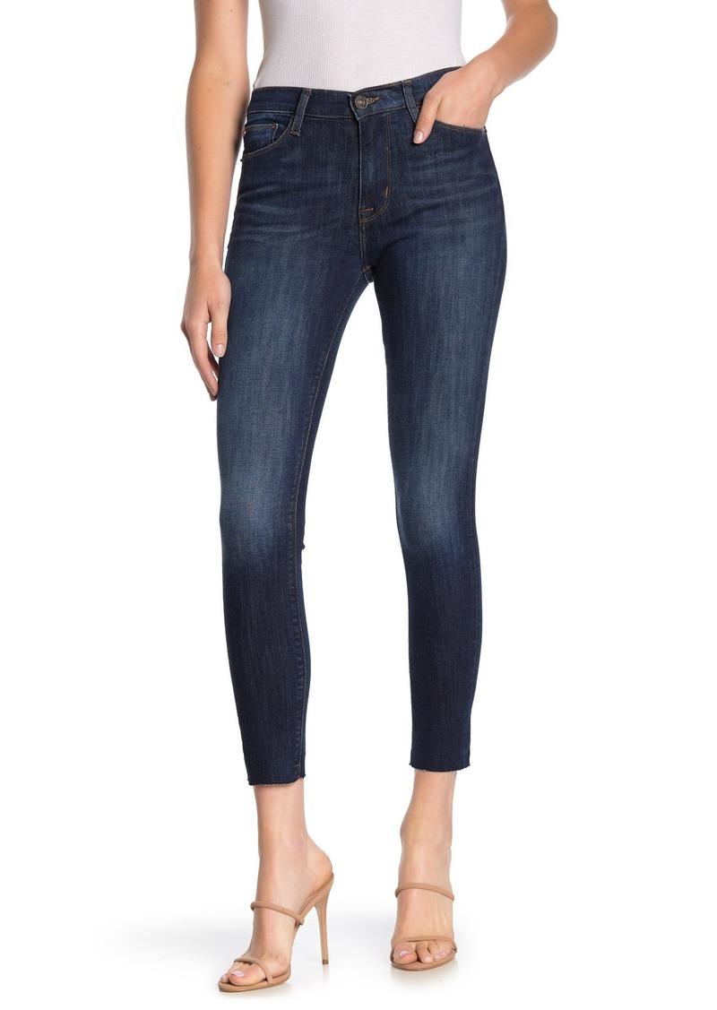 Hudson Jeans Blair Raw Crop Hem Super Skinny Jeans
