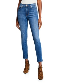Hudson Jeans Blair Whiskered Mid-Rise Ankle Skinny Jeans