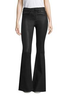 Hudson Jeans Bullocks Lace-Up Flare Jeans