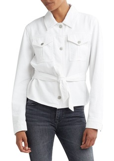 Hudson Jeans Button-Front Military Tie Top