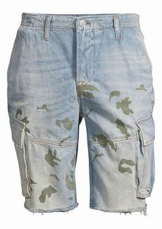 Hudson Jeans Camo Print Denim Cut-Off Shorts