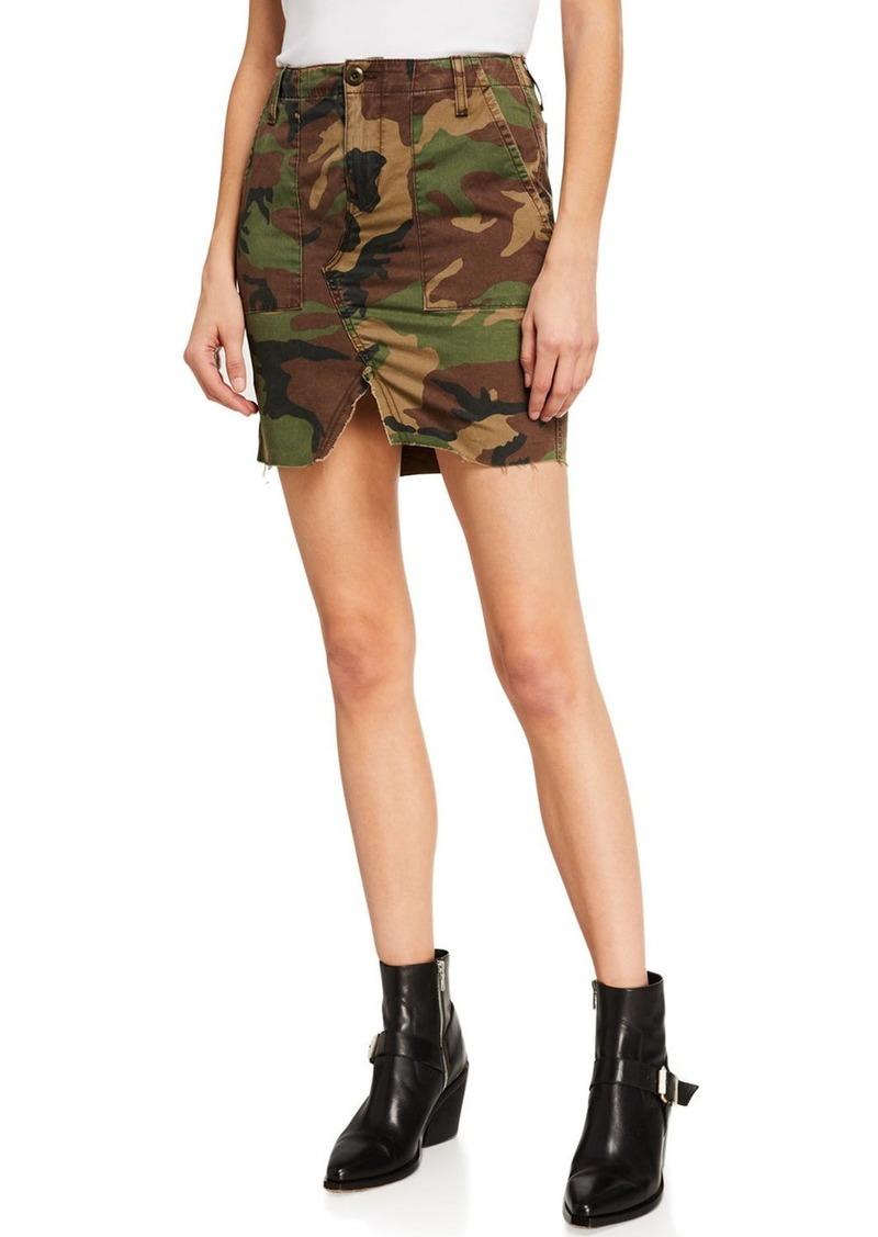 Hudson Jeans Camo-Print Utility Skirt