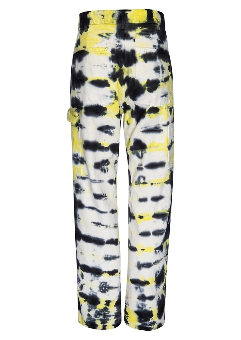 Hudson Jeans Carpenter High-Rise Loose Tie-Dye Jeans