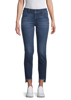 Hudson Jeans Cat Frayed-Cuff Skinny Jeans