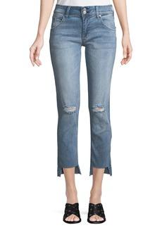 Hudson Jeans Cat Step-Hem Skinny Jeans