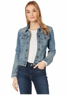 Hudson Jeans Classic Fitted Trucker Jacket in Mangled