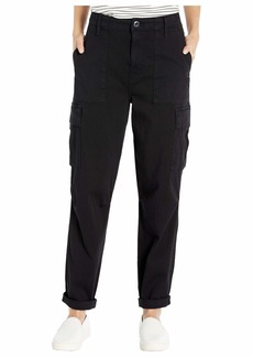 Hudson Jeans Classic High-Waist Cargo in Washed Black