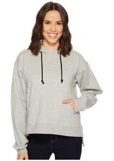 Hudson Jeans Classic Pullover Hoodie in Heather Grey